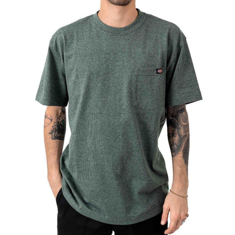 Dickies Short Sleeve Heavyweight Tee Heather Green