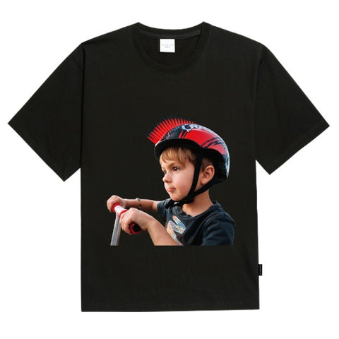 ADLV Baby Face Mohican Helmet Tee Black