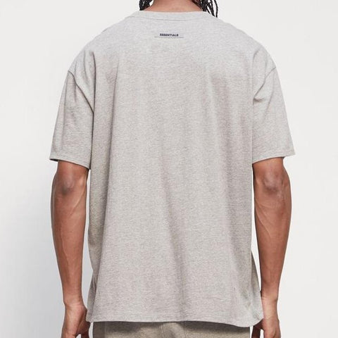 FEAR OF GOD Essentials 3D Logo Tee Heather Oat