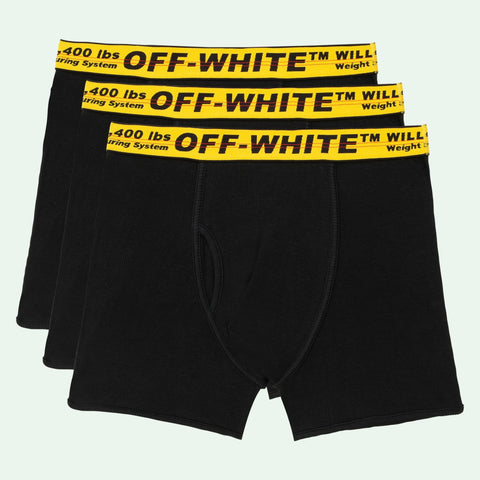 OFF-WHITE Tripack Classic Industrial Boxers Black