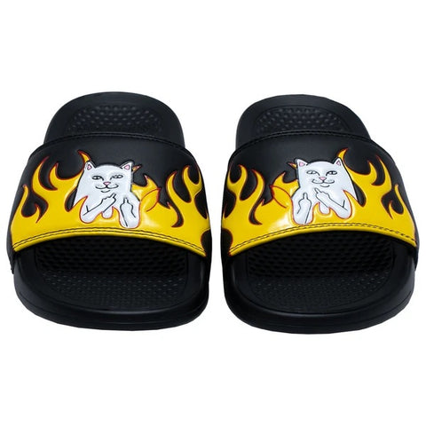RIPNDIP Welcome To Heck Slides Black Flame