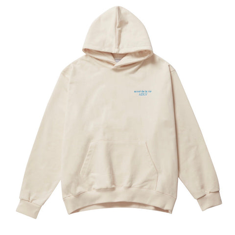 ADLV Basic Logo Embroidery Hoodie Ivory