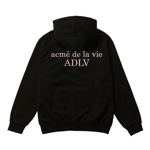 ADLV Basic Logo Embroidery Hoodie Black