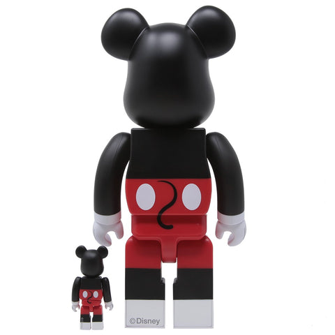 MEDICOM Bearbrick Mickey Mouse (R&W VER.) 100% and 400% Collectible Figure Set