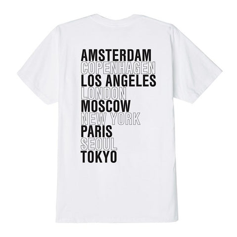 Obey International Cities Tee White