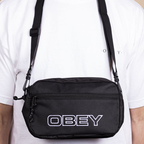 Obey Wasted Sling Bag Black