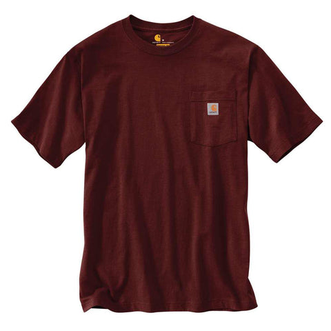 Carhartt USA Workwear Pocket Tee Maroon
