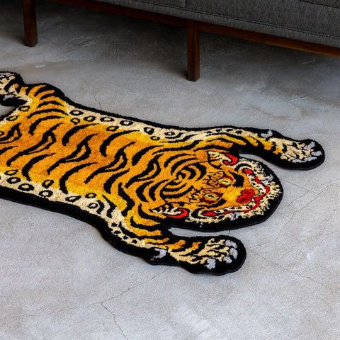 RAW EMOTIONS Tibetian Tiger Rug Yellow
