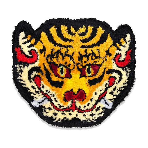 RAW EMOTIONS Mascot Head Rug Yellow