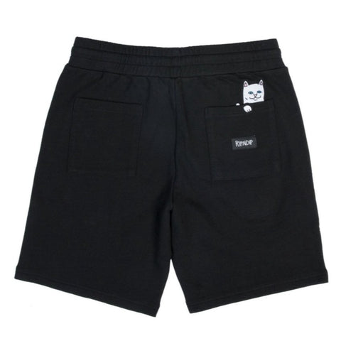 RIPNDIP Peek A Nermal Sweat Shorts Black