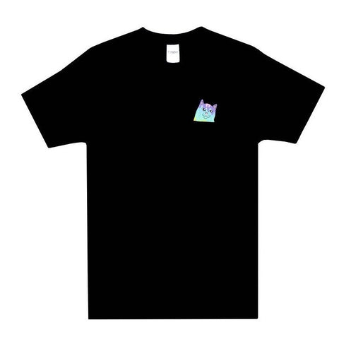 RIPNDIP Rainbow Nerm Pocket Tee Black