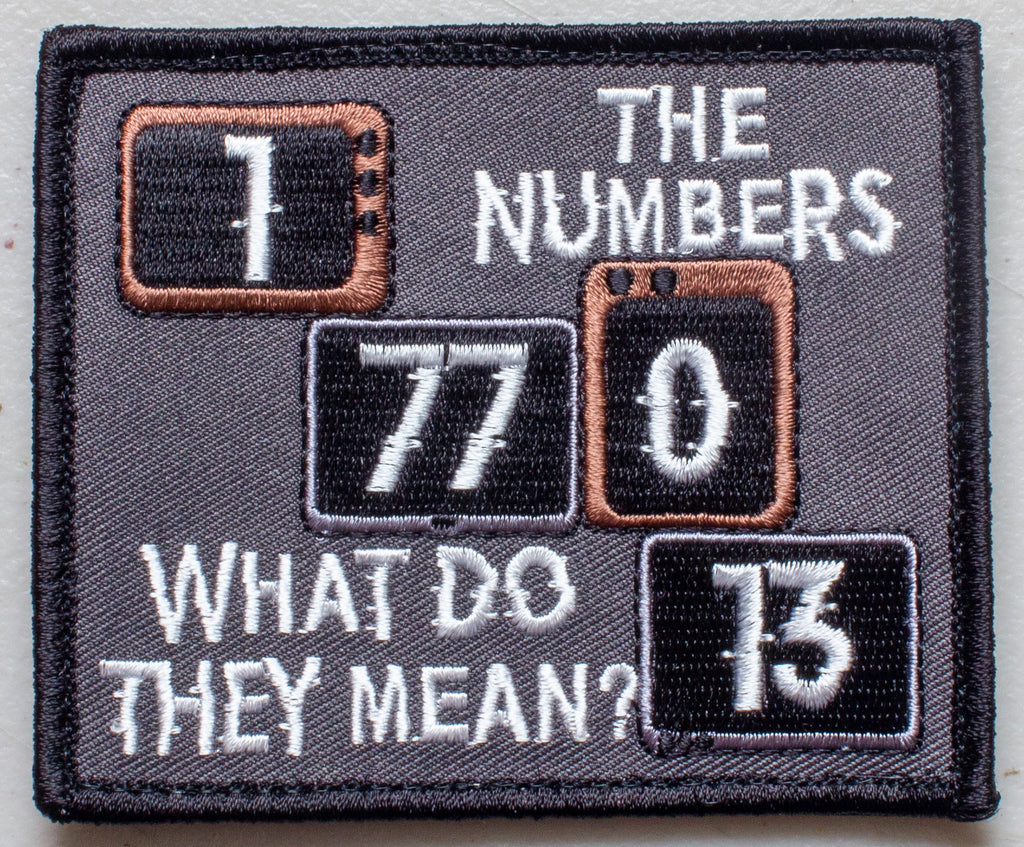Cursed Numbers 177013 Velcro Patch