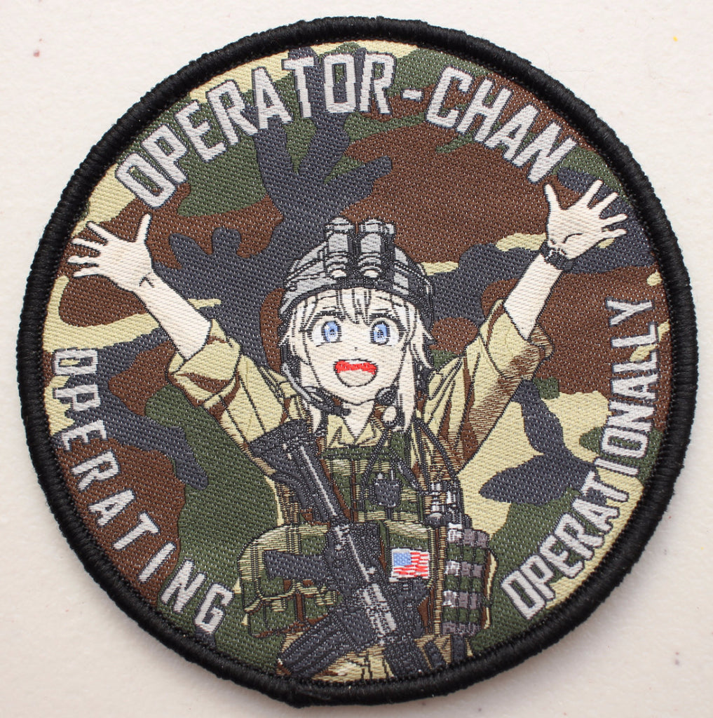 Operator-Chan Velcro Patch - Woodland camo