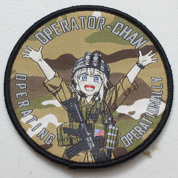Operator-Chan Velcro Patch - Multicam