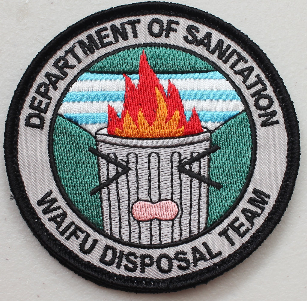 Dept of Sanitation Waifu Disposal Velcro Patch