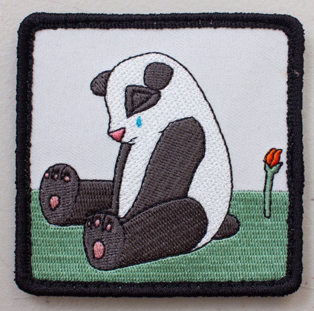 Sad Panda Velcro Patch