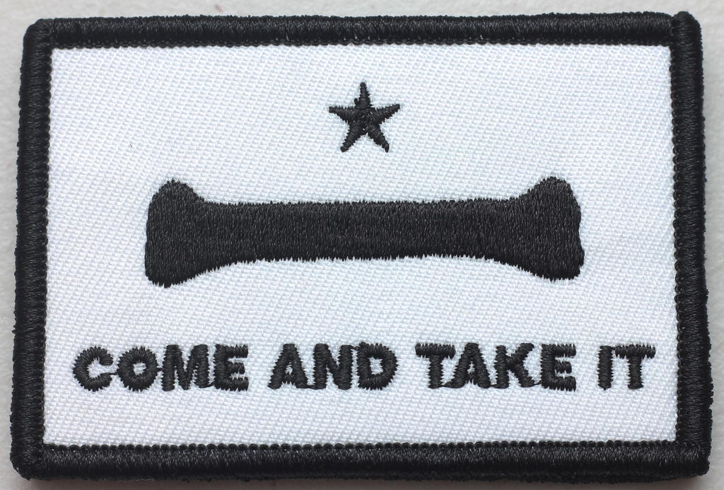 Come and Take it Doggo Bone Velcro Patch