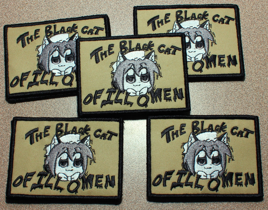 2hu Chen - The Black Cat of Ill Omen Velcro Patch