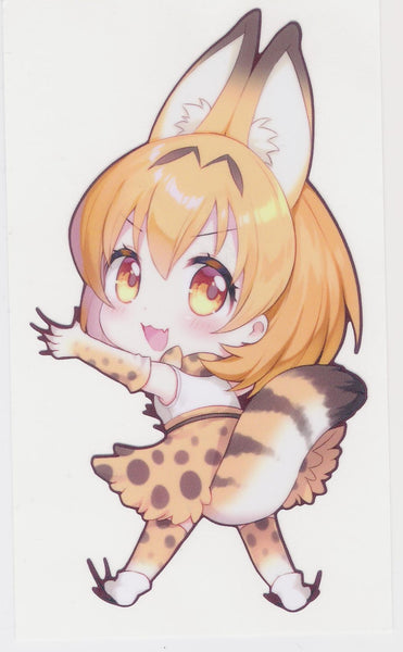 Hanging Serval Decal Sticker
