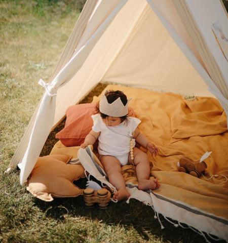 Kinderfeets  TENT - NATURAL ORGANIC COTTON & SUSTAINABLE PINE WOOD