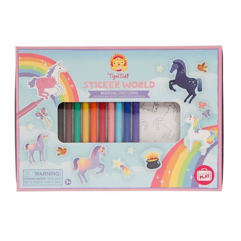 Tiger Tribe - Sticker World - Magical Unicorns - Sweet Pea Kids
