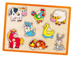 Wooden Flat Puzzle - Farm Animals