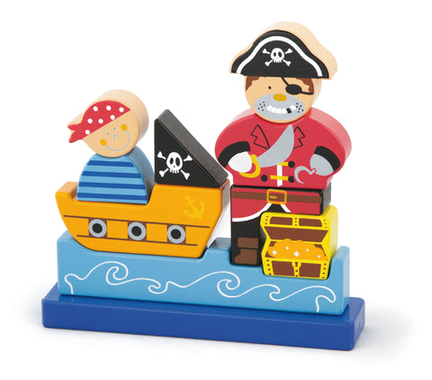 3D Magnetic Standing Puzzle - Pirate - Sweet Pea Kids