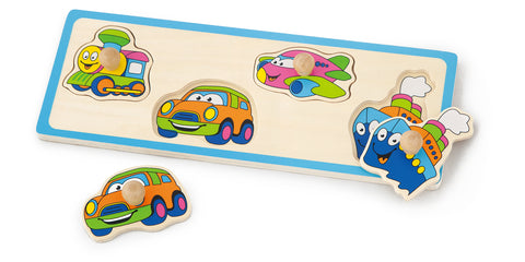 Viga - Flat Puzzle - Transportation - Sweet Pea Kids