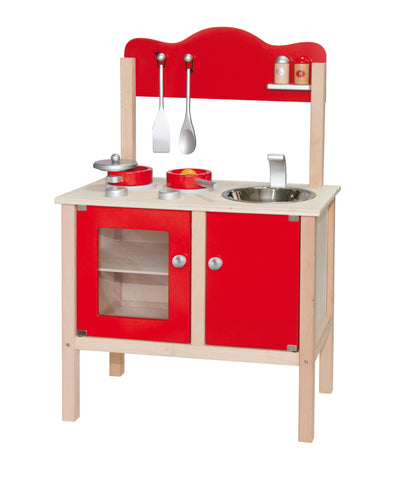 Viga - Wooden Red Kitchen + Accessories - Sweet Pea Kids