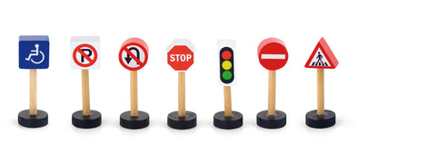 Train Set Accessory -Traffic Signs - Sweet Pea Kids