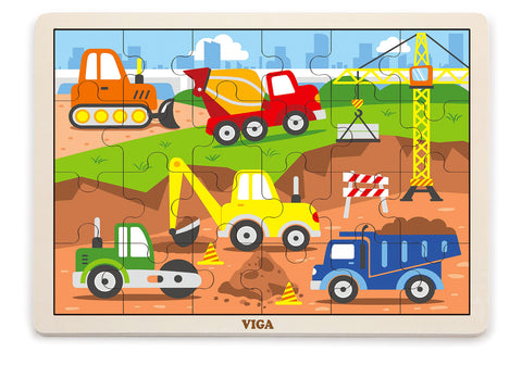 VIGA - 24 pcs Puzzle - Construction - Sweet Pea Kids