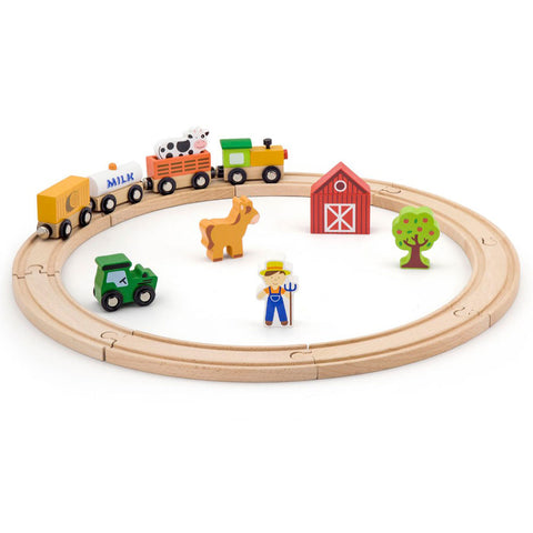 VIGA - Train Set (20pcs) - Sweet Pea Kids