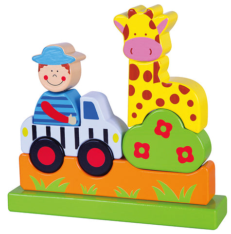 VIGA - Magnetic Block Puzzle - Zoo - Sweet Pea Kids