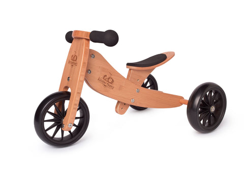 2-in-1 Tiny Tot Tricycle & Balance Bike - Bamboo