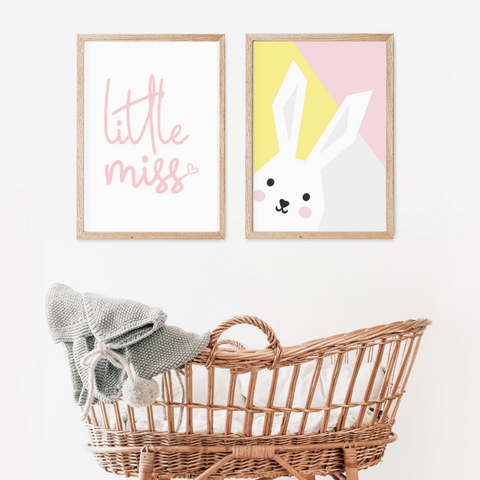 Sweet Pea - Set of 2 - Bunny & Little Miss Prints - Sweet Pea Kids