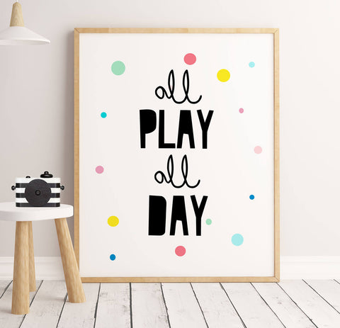 Sweet Pea - All Play All Day  Wall Art Print - Sweet Pea Kids