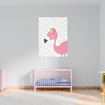 Sweet Pea - Pink Flamingo  Wall Art Print - Sweet Pea Kids