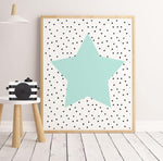 Sweet Pea - Green Star  Wall Art Print - Sweet Pea Kids