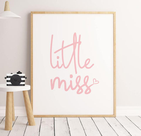 Sweet Pea - Little Miss Pink  Wall Art Print - Sweet Pea Kids