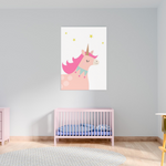 Sweet Pea - Pink Unicorn  Wall Art Print - Sweet Pea Kids