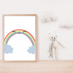 Sweet Pea - Rainbow Smile  Wall Art Print - Sweet Pea Kids