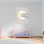 Sweet Pea - Sleepy Moon Star  Wall Art Print - Sweet Pea Kids