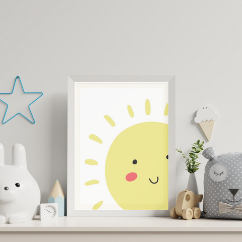 Sweet Pea - Smile Sun  Wall Art Print - Sweet Pea Kids