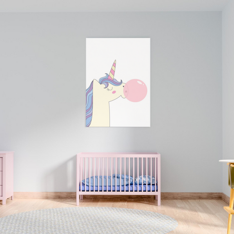 Sweet Pea - Unicorn Bubblegum  Wall Art Print - Sweet Pea Kids