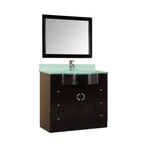 "Aria 40"" Espresso Modern Single Sink Vanity Set"