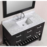 "Design Element London 48""Espresso Transitional Single Sink Vanity Set"