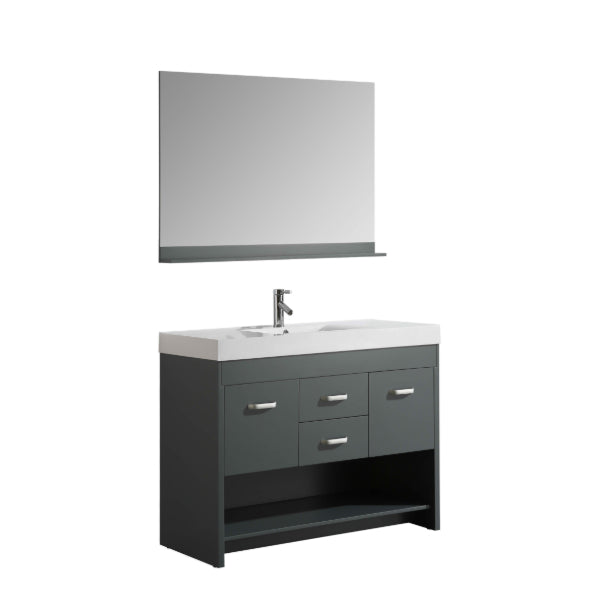 "Citrus 48"" Gray Modern Single Sink Vanity Set"