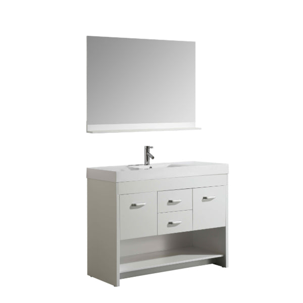 "Citrus 48"" White Modern Single Sink Vanity Set"