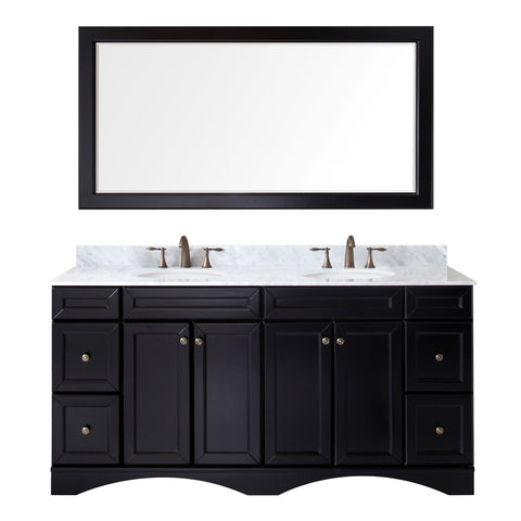 "Virtu USA Talisa 72"" Espresso Double Bathroom Vanity Set - ED-25072-WM-ES - Bath Vanity Plus"