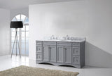 "Virtu USA Talisa 72"" Gray Double Bathroom Vanity Set - ED-25072-WM-GR - Bath Vanity Plus"